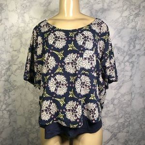 Anthro Meadow Rue M Printed Zane Top